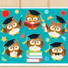 Graduation Owl Vector Clipart