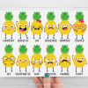 Pineapple Emotions Clipart