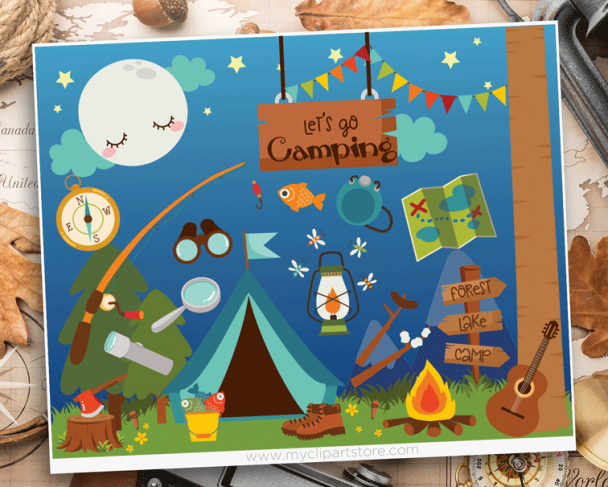 Camping Vector Clipart