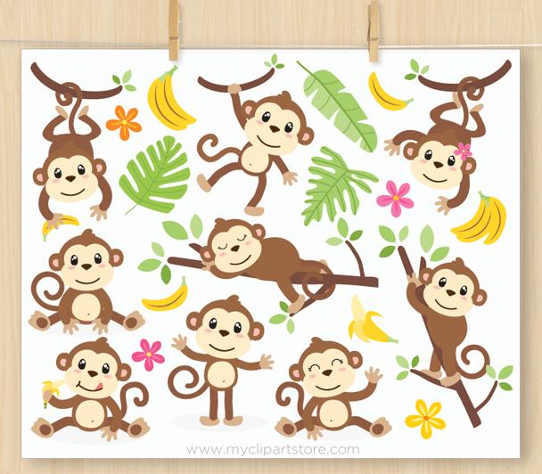 Monkey Vector Clipart