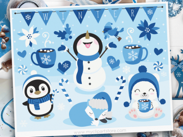 Winter Friends Clipart