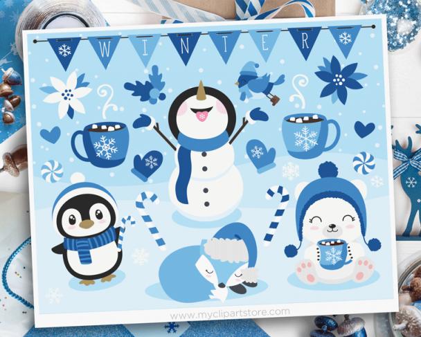 Winter Friends Clipart