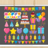 Birthday Rainbow Clipart