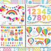 Birthday Party Rainbow Vector Clipart, Big Bundle