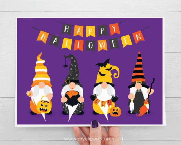 Halloween Gnomes Clipart