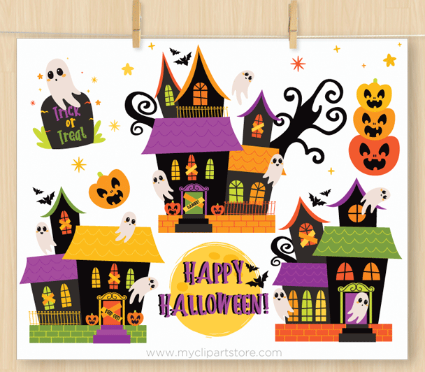 Haunted House Vector Clipart