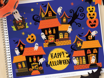 Haunted Mansions Vector Clipart