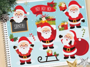 Santa Clause Vector Clipart