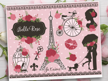 Belle Rose Paris Vector Clipart