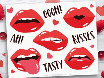 Valentine Lips Clipart