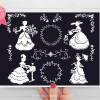 Victorian Silhouettes clipart