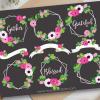 Floral Frames White Vector Clip Art