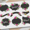 Floral Chalkboard Frames Vector Clip Art