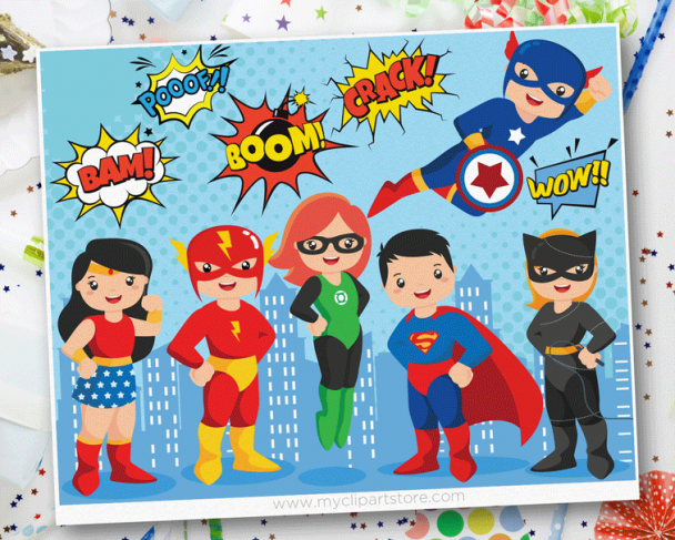 Superhero Vector Clipart