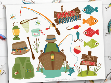 Gone Fishing Clipart