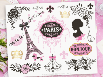 Paris Rose Clipart