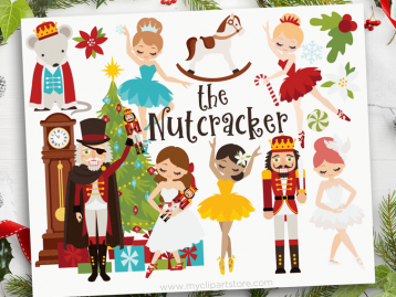 Nutcracker Ballet Red Clipart