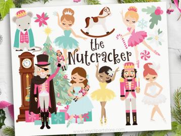 Nutcracker Ballet Pink Clipart