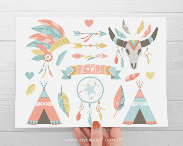 Tribal Boho Elements Clipart