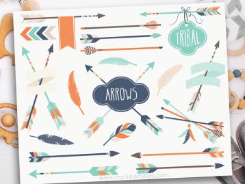 Tribal Boy Arrows Clipart