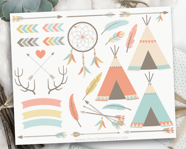 Tribal Elements Clipart
