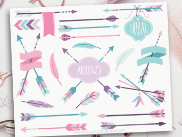 Tribal Girl Arrows Clipart