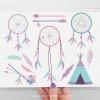 Tribal Girl Dreamcatchers Clipart