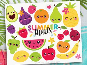 Summer Fruit Clipart