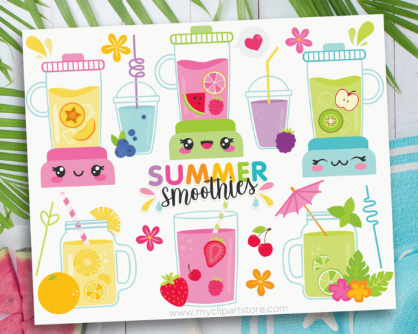 Summer Smoothies Clipart