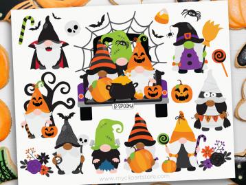 Halloween Gnome Clipart